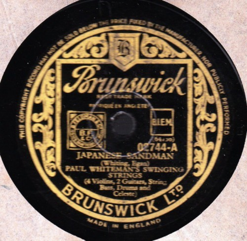 Paul Whiteman - Japanese Sandman - Brunswick 02744